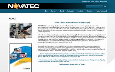 Screenshot of About Page novatec.com - About   Novatec - captured Nov. 9, 2018