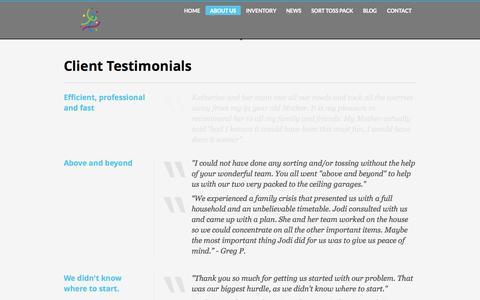 Screenshot of Testimonials Page oddsandendsagain.com - Odds & Ends Again   Client Testimonials - captured Sept. 30, 2014