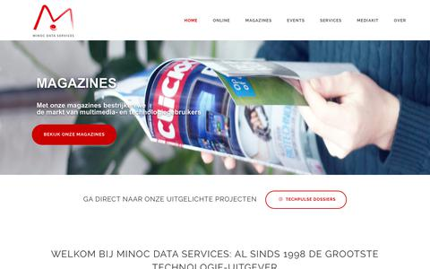 Screenshot of Home Page minoc.com - Welkom bij Minoc Data Services - Minoc Data Services - captured Oct. 18, 2018
