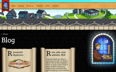 Screenshot of Blog abbeygames.com - Blog » Abbey Games • Abbey Games, indie developers of Reus and Renowned Explorers - captured Oct. 29, 2014