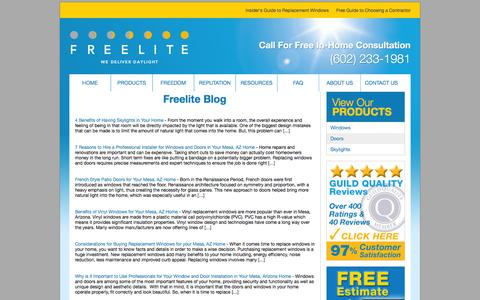 Screenshot of Blog freeliteaz.com - Freelite Blog - captured Jan. 22, 2016