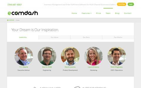 Screenshot of Team Page ecomdash.com - Inventory Management System Team that SupportsOnline Sellers - captured Sept. 25, 2014