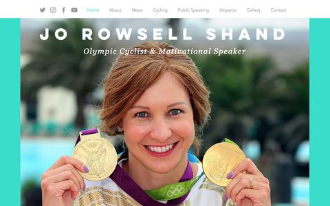 Screenshot of Home Page joannarowsell.com - Joanna Rowsell Shand - captured March 3, 2017