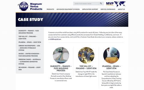 Screenshot of Case Studies Page mvpind.com - Case Studies - Magnum Venus Products - captured Oct. 4, 2014