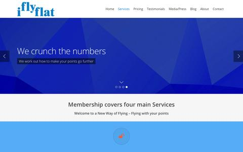 Screenshot of Services Page iflyflat.com.au - Membership Services - IFLYFLAT - captured Sept. 24, 2014