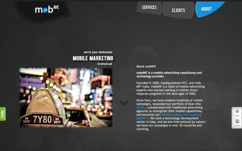 Screenshot of About Page mobave.com - Mobile Marketing Consultants   Mobile Advertising Experts - captured Oct. 26, 2014