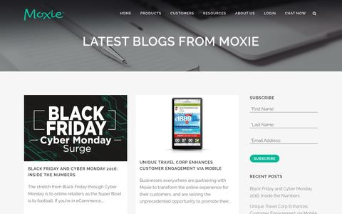 Screenshot of Blog gomoxie.com - Customer Engagement Blog | Moxie - captured Dec. 17, 2016