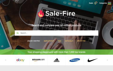 Screenshot of Home Page sale-fire.com - sale-fire.com - captured June 20, 2017