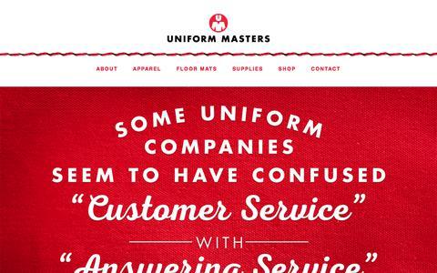 Screenshot of Home Page uniform-masters.com - Uniform Rental Services Company In Memphis, TN | Uniform Masters - captured June 18, 2017