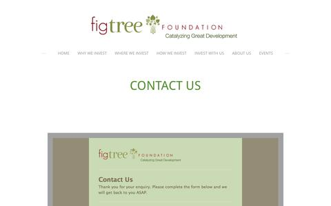 Screenshot of Contact Page figtreefoundation.org - Contact Us - Fig Tree Foundation - captured Dec. 26, 2016