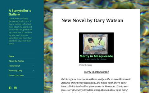 Screenshot of Home Page garywatsonbooks.com - New Novel by Gary Watson | A Storyteller's Gallery - captured July 19, 2015