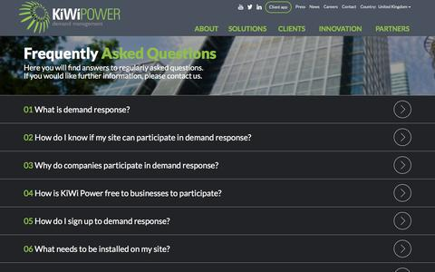 Screenshot of FAQ Page kiwipowered.com - KiWi Power | KiWi Power - captured Feb. 12, 2016
