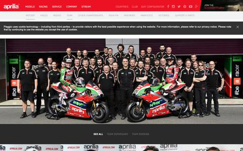 Screenshot of Team Page aprilia.com - Team - Aprilia - captured Oct. 29, 2018