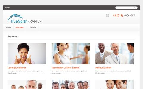 Screenshot of Services Page truenorthbrands.com - Services | TrueNorthBrands.com - captured Oct. 9, 2014