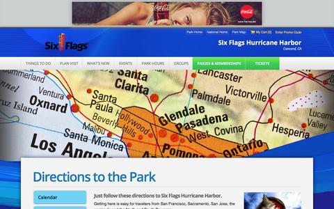 Screenshot of Maps & Directions Page sixflags.com - Directions to the Park | Six Flags - captured Sept. 21, 2018