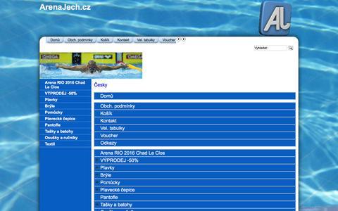 Screenshot of Site Map Page Menu Page arena-shop.cz - Mapa - captured June 13, 2016