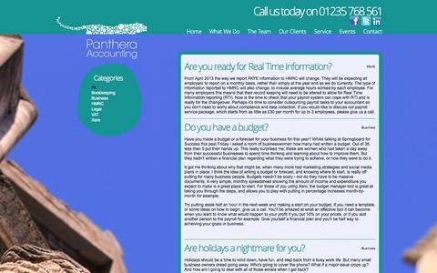 Screenshot of Blog pantheraaccounting.co.uk - Panthera Accounting - captured Sept. 30, 2014