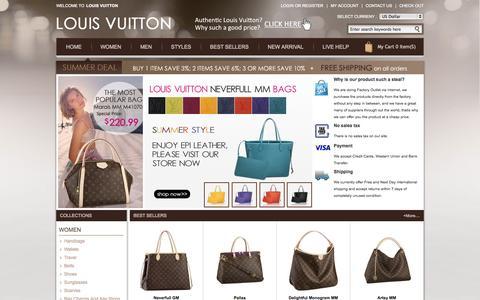 Screenshot of Home Page azucareranyc.com - Louis Vuitton Outlet-Louis Vuitton Handbags Online Shopping In Authentic Louis Vuitton Official Website - captured Oct. 4, 2014