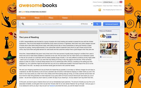 Screenshot of About Page awesomebooks.com - About Us - AwesomeBooks - captured Oct. 29, 2014