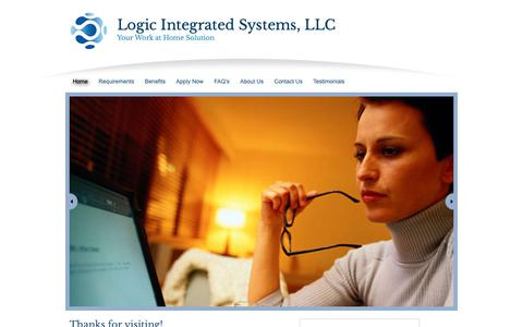 Screenshot of Home Page logicintegrated.com - Logic Integrated Systems, LLC - captured Sept. 29, 2018