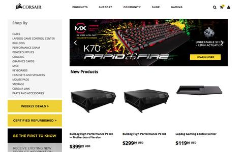 Screenshot of Products Page corsair.com - Shop - captured Nov. 12, 2016