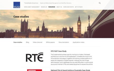 Screenshot of Case Studies Page tmd.tv - Case studies | tmd.tv - captured Nov. 5, 2014