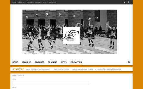 Screenshot of Contact Page jetsvc.co.uk - Jets Volleyball Club Contact Us - Jets Volleyball Club - captured Nov. 3, 2014