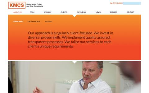 Screenshot of About Page kmcs.ie - About KMCS | Project Management & Cost Consultants, Dublin, Ireland - captured Oct. 16, 2017