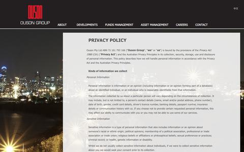 Screenshot of Privacy Page ouson.com.au - Privacy – Ouson Group - captured Oct. 22, 2017