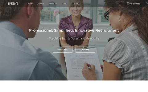 Screenshot of Home Page opusloco.co.uk - Opus Loco Ltd Recruitment Agency in Bognor Regis - captured Feb. 23, 2016