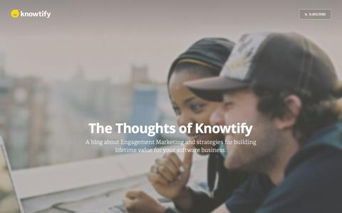 Screenshot of Blog knowtify.io - The Thoughts of Knowtify - captured Sept. 30, 2015