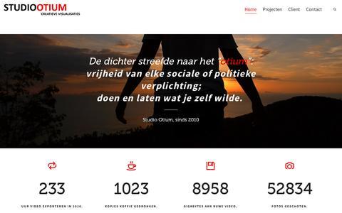 Screenshot of Home Page studio-otium.nl - Studio Otium - Marketingbureau | Creatieve Visualisaties - captured Dec. 17, 2016