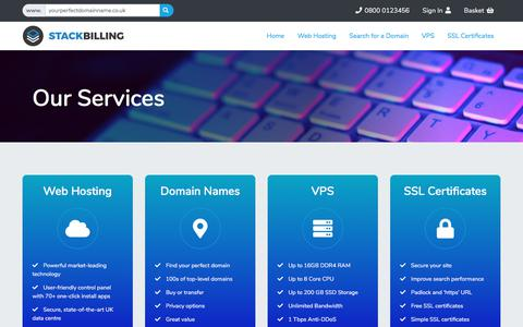 Screenshot of Services Page aspire.im - StackBilling Themes - captured Dec. 17, 2019