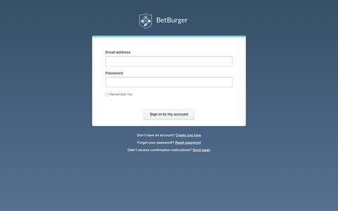 Screenshot of Login Page betburger.com - BetBurger   Sign In - captured March 15, 2016