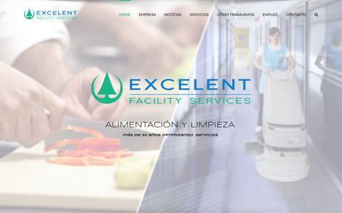 Screenshot of Home Page excelentlimp.com - Excelent Facility Services - captured July 25, 2015