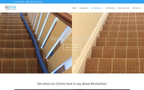 Screenshot of Testimonials Page revitaclean.com - Residential testimonials - Revita Cleaning Systems - Carpet Cleaning - captured Oct. 18, 2018