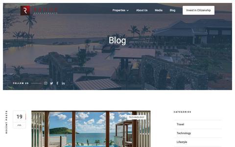 Screenshot of Blog rangedevelopments.com - Range Developments Travel Blog - captured Oct. 20, 2018