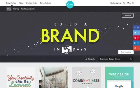 Screenshot of Blog canva.com - Canva Design School Blog - captured July 3, 2015