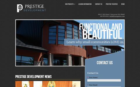 Screenshot of Press Page prestigedev.com - Elie Kassab | Prestige Development News - captured Sept. 29, 2018