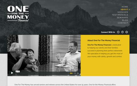 Screenshot of About Page oneforthemoneyfinancial.com - About | One For The Money Financial - captured Oct. 7, 2014