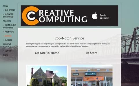 Screenshot of Services Page creativecomputing.com - Service — Creative Computing - captured Oct. 3, 2014