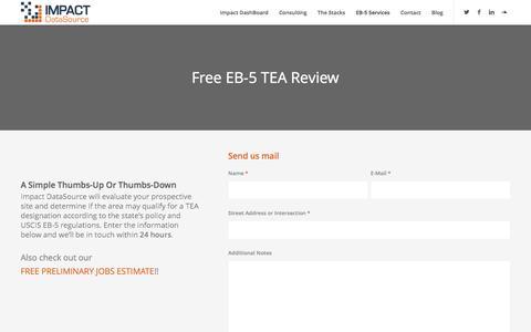 Free EB-5 TEA Review - Impact DataSource