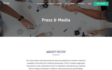 Screenshot of Press Page fictiv.com - Fictiv | Press Kit - captured March 6, 2019
