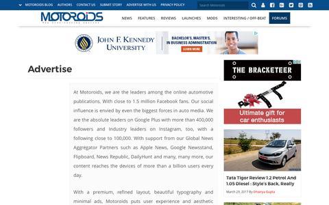 Advertise | Motoroids