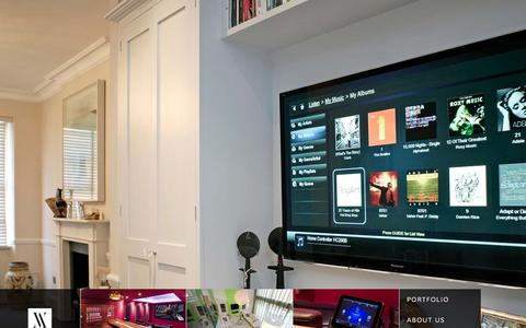 Screenshot of Home Page inspire-av.com - Inspire Audio Visual - captured Oct. 6, 2014