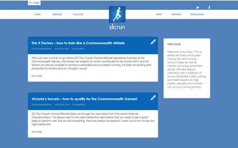 Screenshot of Blog dcrun.com.au - DC Run Blog - Expert Running Technique Advice, Running Coach Articles - captured Sept. 30, 2014