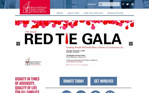 Screenshot of Home Page rmhdesmoines.org - RMH DesMoines | The House That Love Built - captured Oct. 6, 2014