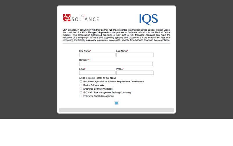CSA Soliance Presentation Download Form
