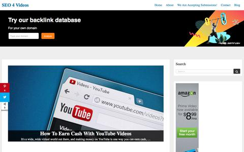 Screenshot of Home Page Site Map Page seo4videos.com - Video Marketing Blog & Video Marketing Guide - SEO 4 Videos - captured Sept. 18, 2019
