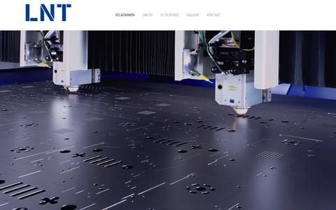 Screenshot of Home Page lnt.as - Velkommen - LNT A/S - captured Oct. 9, 2015